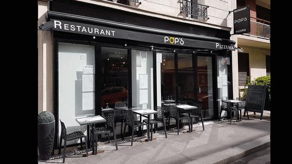 Pops restaurant Paris terrasse ensoleillee