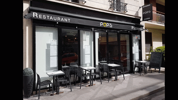Pops restaurant Paris terrasse ensoleillee